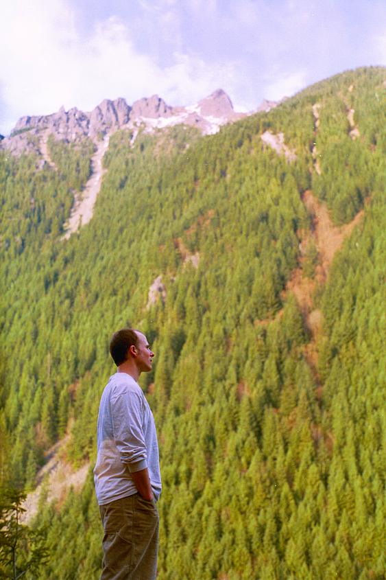 Jeff, near the top of Little Si, looking at Big Si